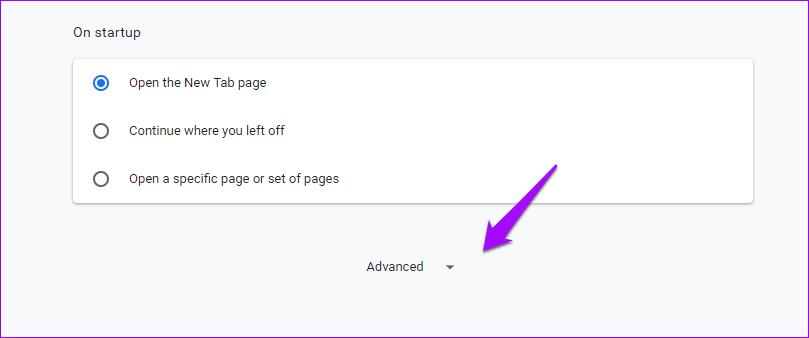Chrome Paramètres avancés
