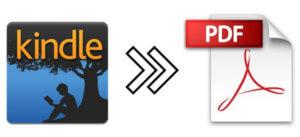 convertir des fichiers Kindle en PDF