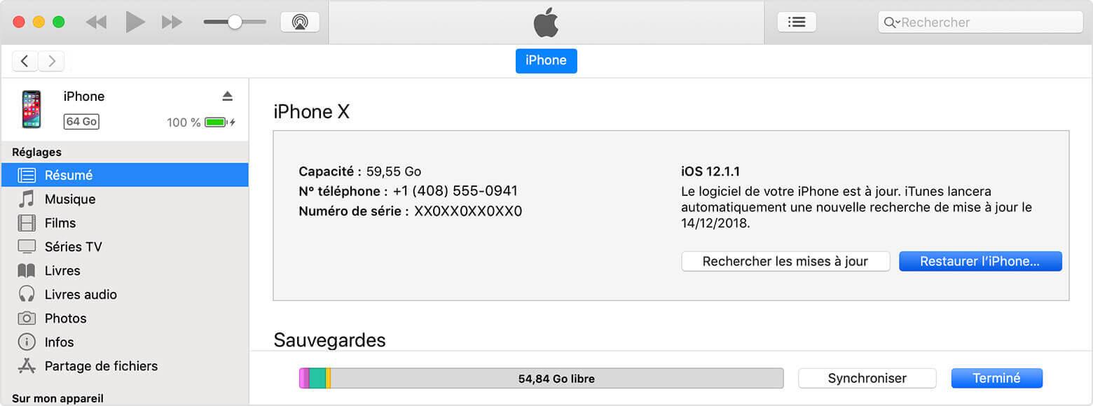 Comment déverrouiller un iPhone/iPad désactivé en utilisant iTunes
