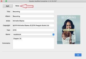 modifier les métadonnées des livres audio Audible