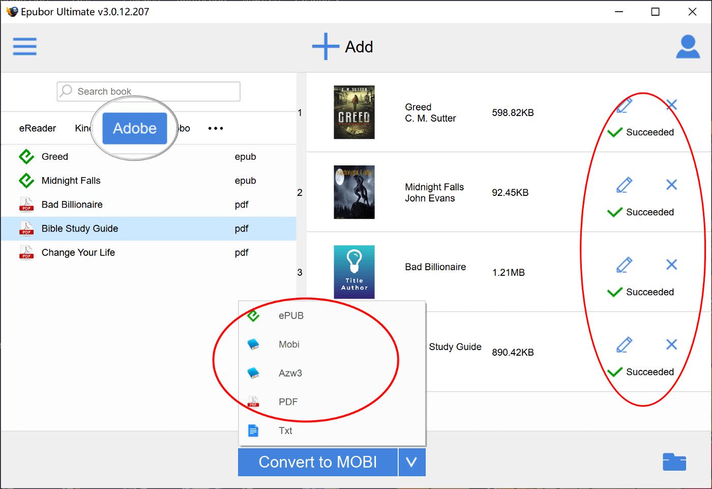 Comment convertir des fichiers ACSM en PDF