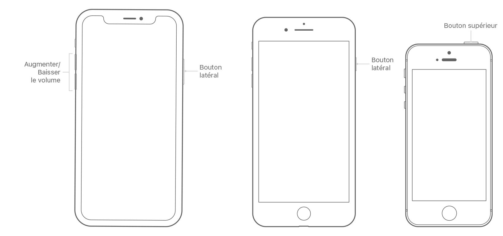 Faire un redémarrage forcé pour résoudre le problème de l'iPhone bloqué sur le logo Apple