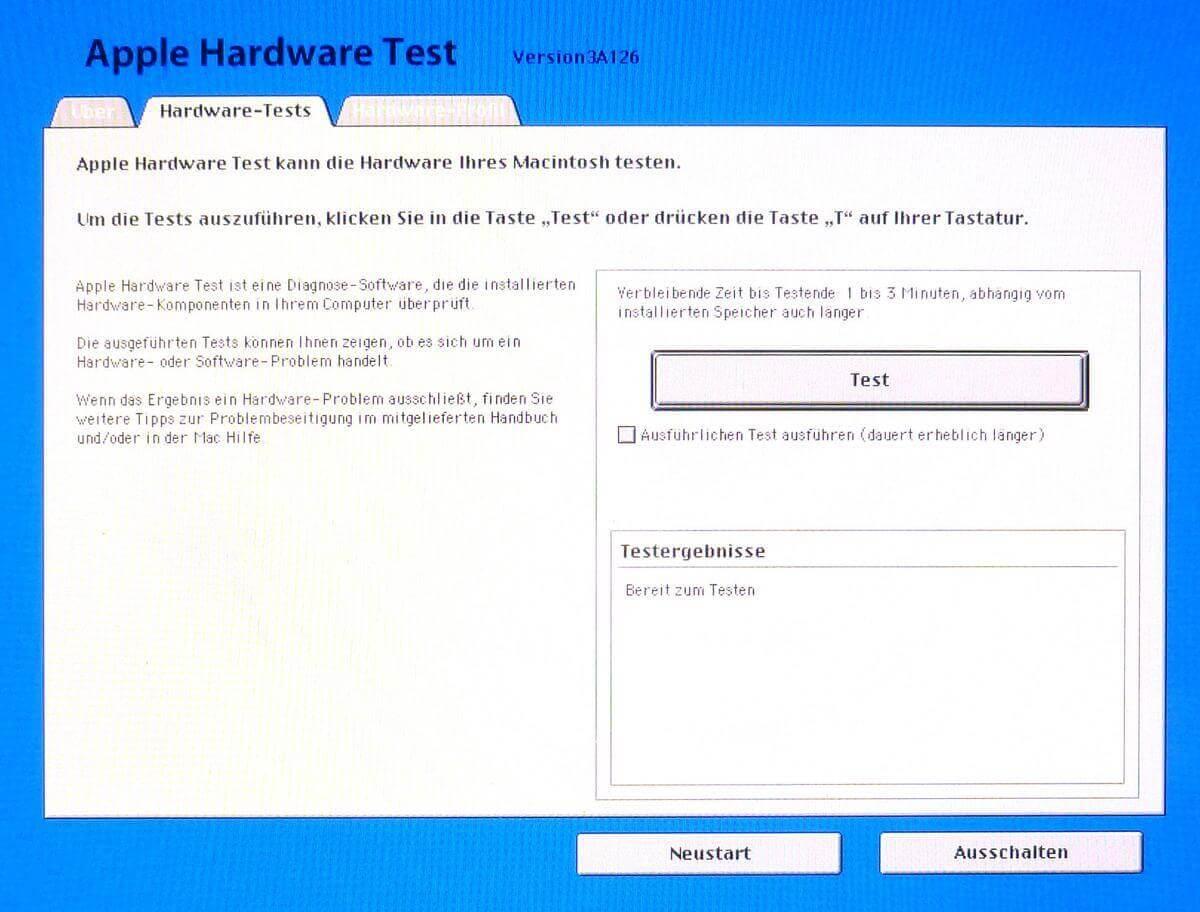 Faire un test matériel du MacBook