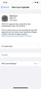 Rechercher la dernière mise à jour iOS disponible