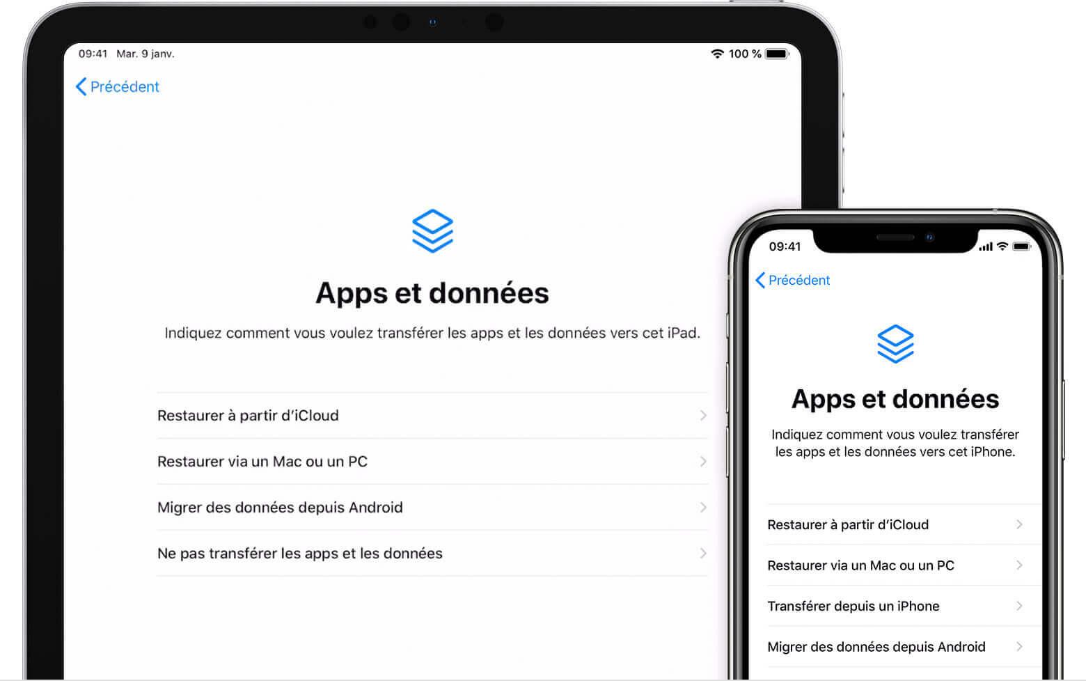 iOS Restaurer à partir d'iCloud