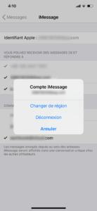 déconnecter iPhone iMessage