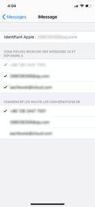 S'assurer qu'iMessage ait été configuré correctement