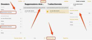 récupérer les notes d'un iPhone à partir du dossier « Suppressions récentes »