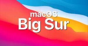 macOS Big Sur qui devient lent