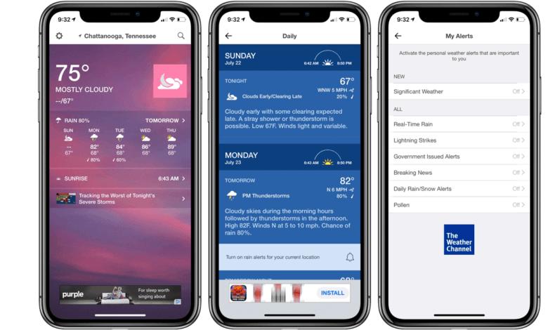 Meilleures applications météo pour iPhone et iPad