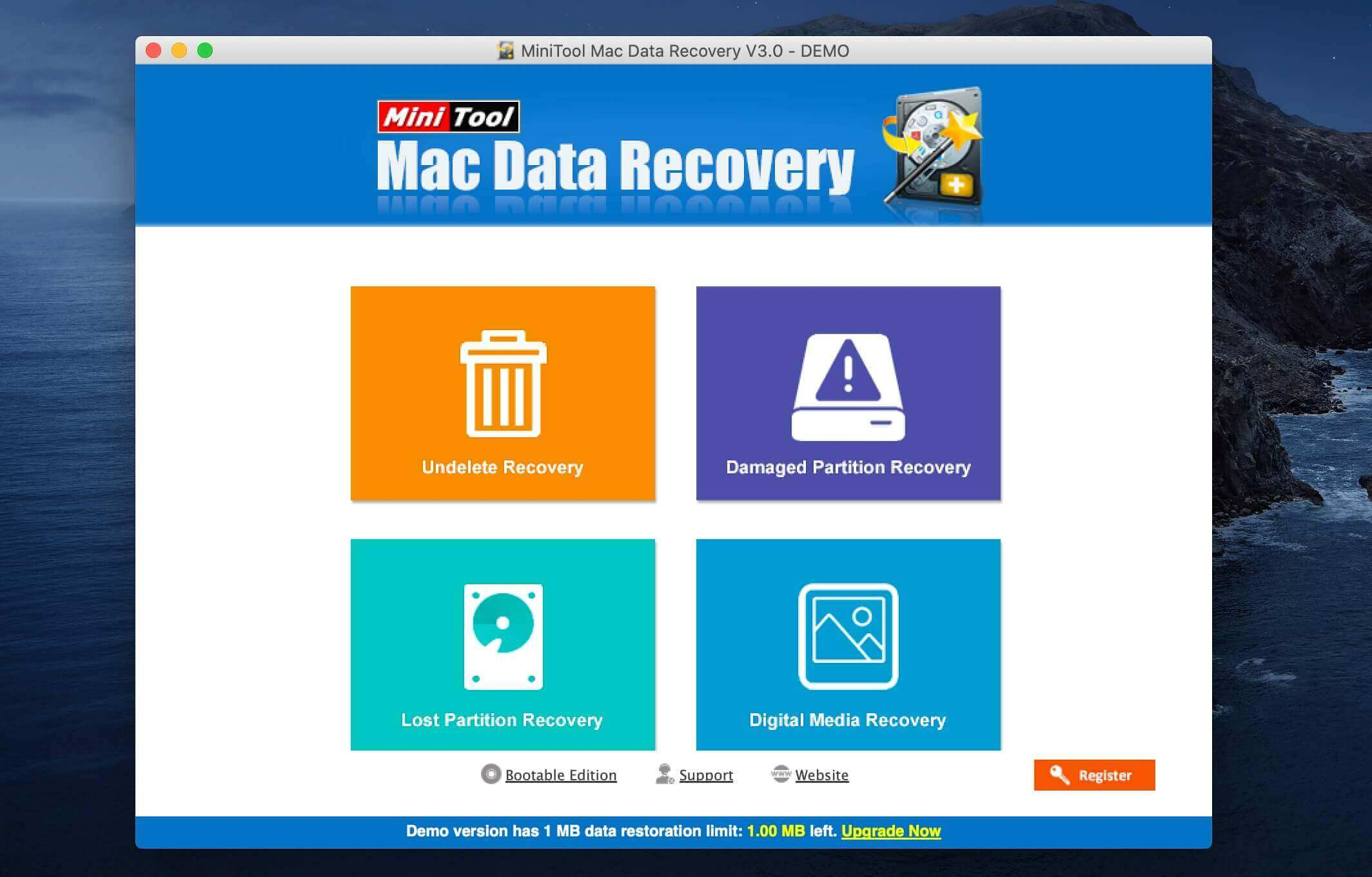MiniTool Data Recovery pour Mac