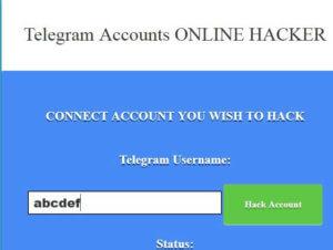 Tapez maintenant le compte Telegram que vous souhaitez pirater