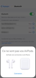 connecter les AirPods à votre appareil
