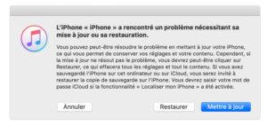 Restaurer l'iPhone avec le mode de récupération