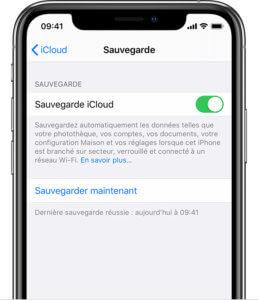 Sauvegarder un iPhone via iCloud