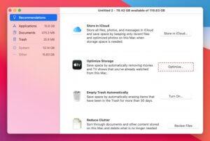 Optimiser le stockage du macOS Big Sur