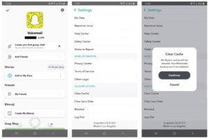 Videz votre cache de Snapchat